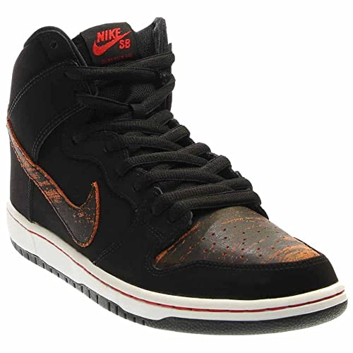 73b60a813960 Nike Mens Dunk High Pro SB Distressed Leather Black University Red Leather  Size 8  Buy Online at Low Prices in India - Amazon.in