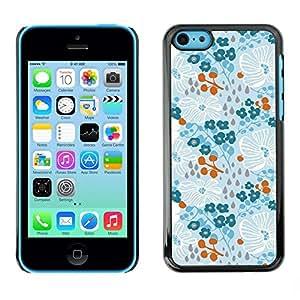 Be Good Phone Accessory // Dura Cáscara cubierta Protectora Caso Carcasa Funda de Protección para Apple Iphone 5C // Winter Spring Flowers Wallpaper
