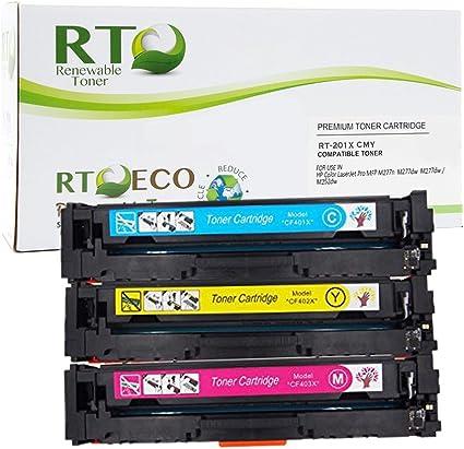 3PK Color CF401A CF402A CF403A 201A Toner Set Fit HP Laserjet M252n M277n M277dw