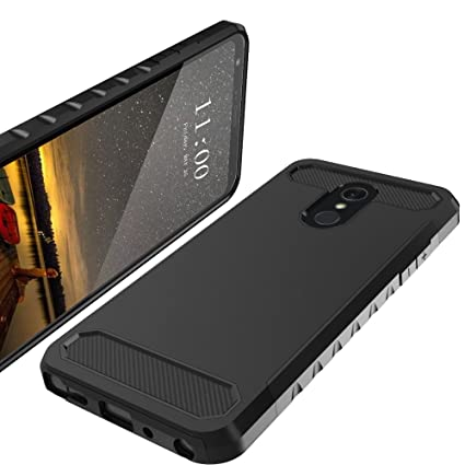 LK Case for LG Stylo 4, LG Q Stylus, [Carbon Fiber] Shock