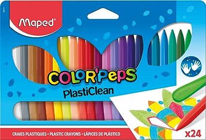 Maped - Estuche de 24 ceras duras ColorPeps: Amazon.es: Oficina y papelería