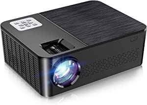 """Native 1080p Video Projector, Crenova 7000 Lux Projector for Outdoor Movie, LED Projector with 200""""Display, Home Theater Projector with Dolby Sound&75% Zoom for iPhone, Android, iPad, HDMI, USB"""