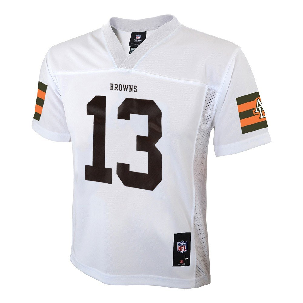 5454be1d5 Amazon.com   Outerstuff Josh Gordon NFL Cleveland Browns Mid Tier White Away  Jersey Boys (4-7)   Sports   Outdoors