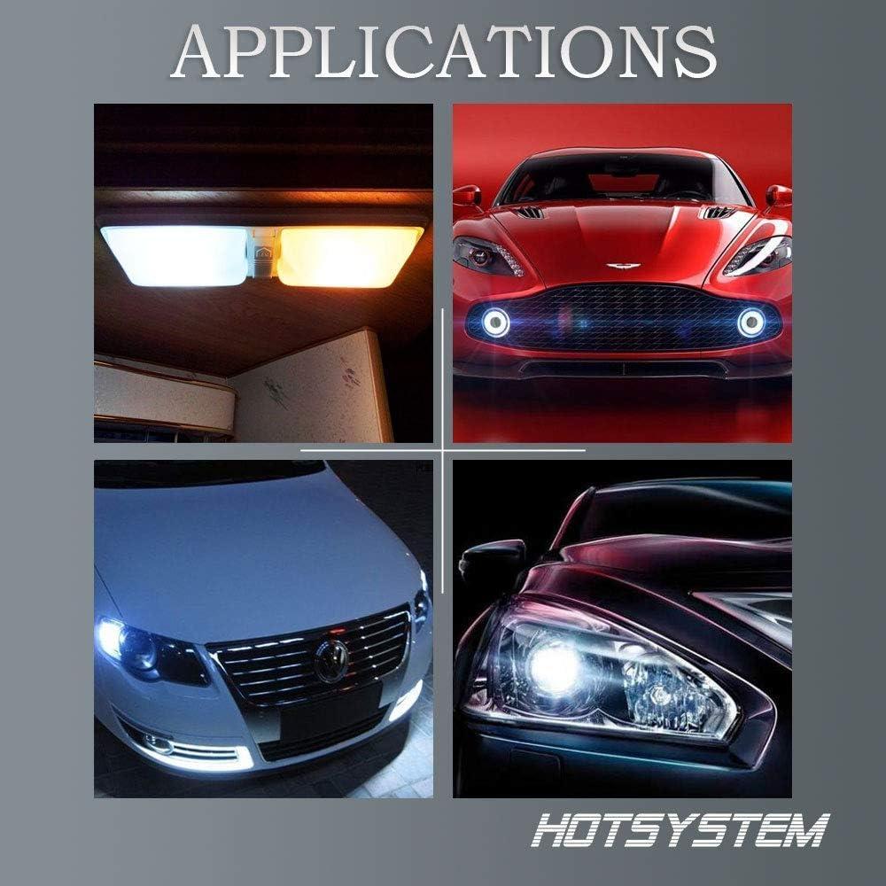 CoolWhite,Pack of 6 HOTSYSTEM LED Light Bulbs 1157 BAY15D P21//5W 2357 7528 18-5050 SMD for Car RV SUV Camper Trailer Trunk Interior Reversing Backup Tail Turn Signal Parking Side Marker Lights