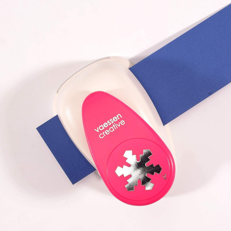 Motivlocher aus Metall und Plastik zum Basteln mit Papier Vaessen Creative Motivstanzer Schneeflocke XL Jumbo Stanzer Ausgestanztes Motiv 43,3 x 49,9 mm