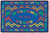Flagship Carpets CE345-08A Chevron Welcome Mat, Multicolor