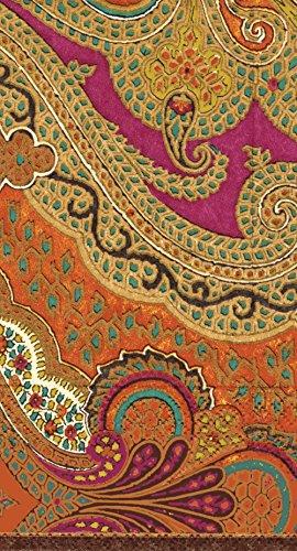 Caspari Entertaining Jaipur Spice Paper Guest Towels, 15-Pack