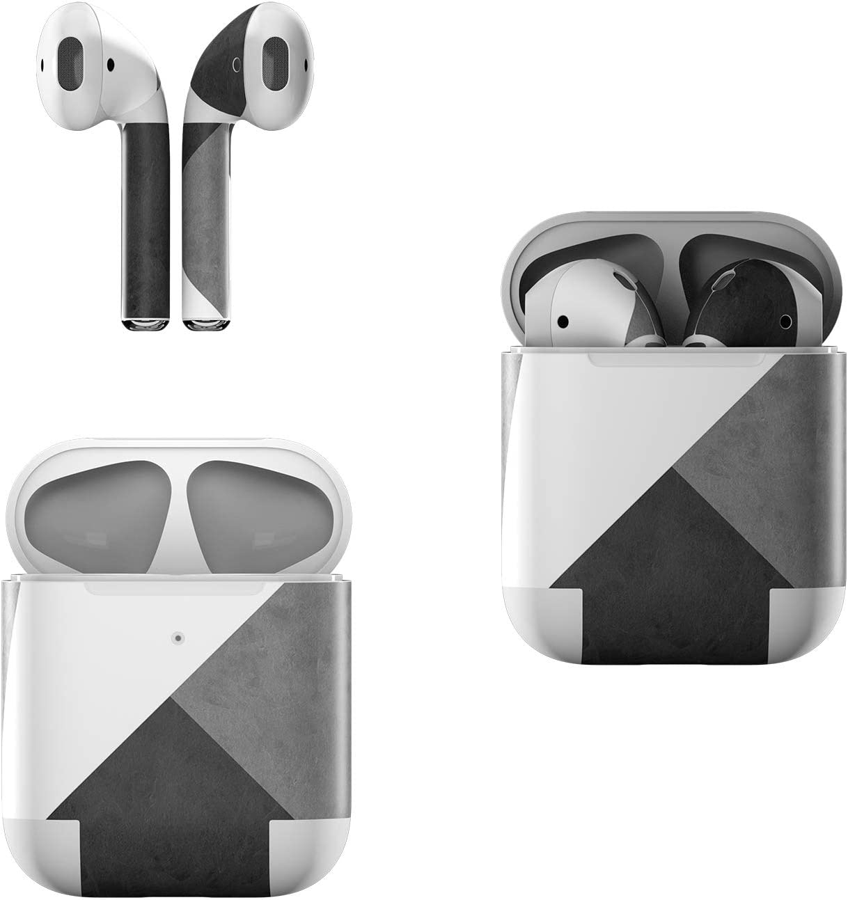 Skin Decals for Apple AirPods - Slate - Sticker Wrap Fits 1st and 2nd Generation