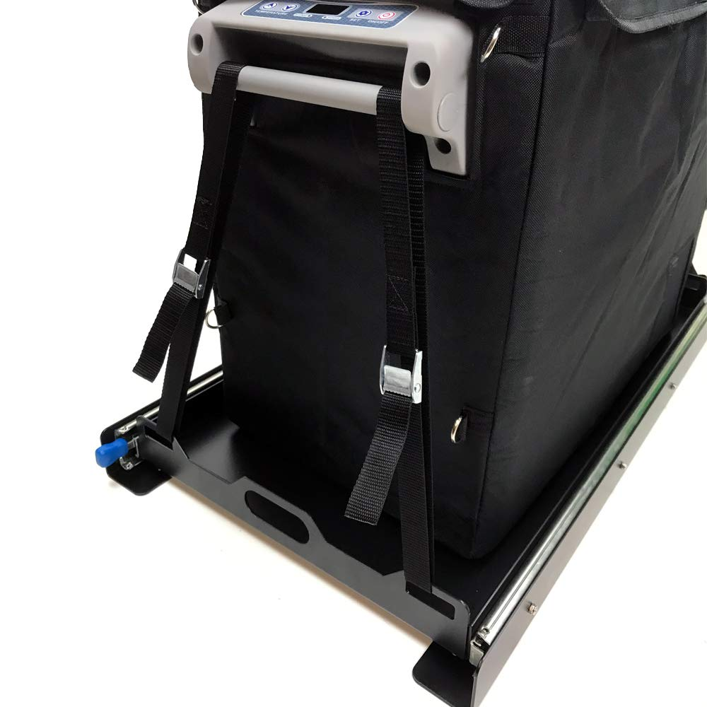 Tuff Stuff Portable 55Qt Fridge Slide Out & Tie Downs, Black by Tuff Stuff (Image #7)