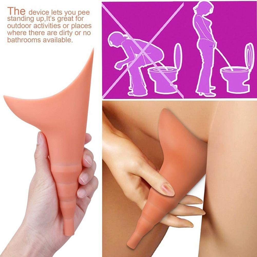 Liery Pisse Debout pour Femme Urinoir R/éutilisable Portatif De Dispositif De Miction Femelle De Silicone pour des Femmes