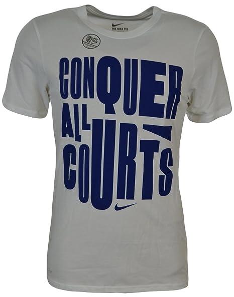 1297f88bbdfa Amazon.com  NIKE Men s Conquer All Courts Graphic Dri-Fit Cotton Tee ...
