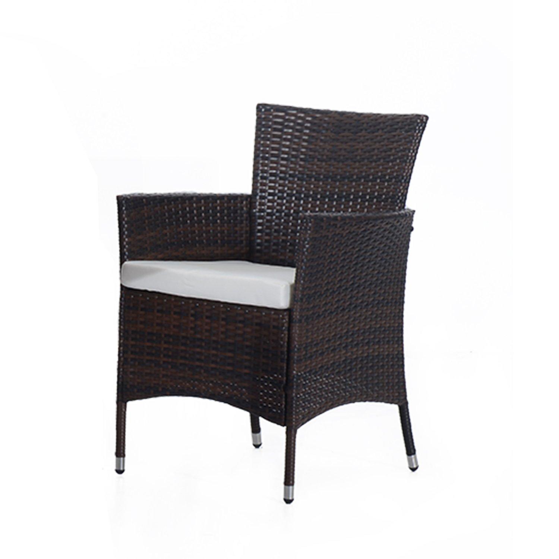 outsunny rattan garden furniture dining set patio rectangular table 6 cube chairs outdoor fire retardant sponge new amazoncouk garden u0026 outdoors