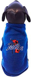 product image for NCAA Tulsa Golden Hurricane Sleeveless Polar Fleece Dog Sweatshirt, Medium
