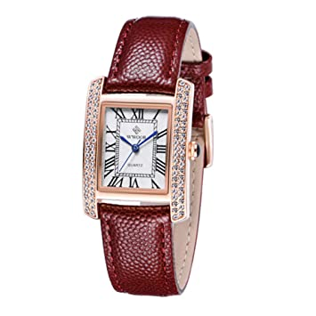 SW Watches Relojes De Las Mujeres, Cuadrados Diamantes Brazalete De Diseño Único, La Moda