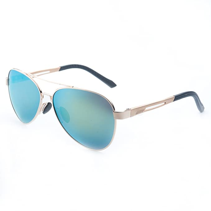 Jee Gafas de sol hombre mujer polarizadas aviator aviador 170(oro)