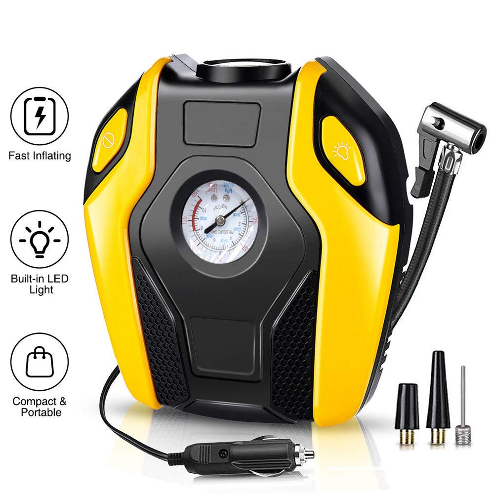 Sonmer Portable Car Electric Inflator Pump,12V 14A,Max to 150PSI Pressure(Mechanical Diaplay)