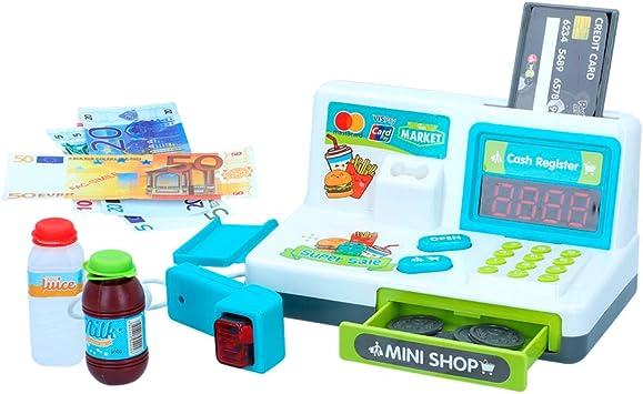 ColorBaby - Caja registradora interactiva con luz y sonido My Market (49160): Amazon.es: Juguetes y juegos