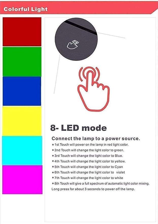 Farm Traktor 3D LED Lampe Deko Licht Automobil Form USB Charge Touch Switch Lampe 7 Bunte Kinder Nachtlicht f/ür Neujahrsgeschenk
