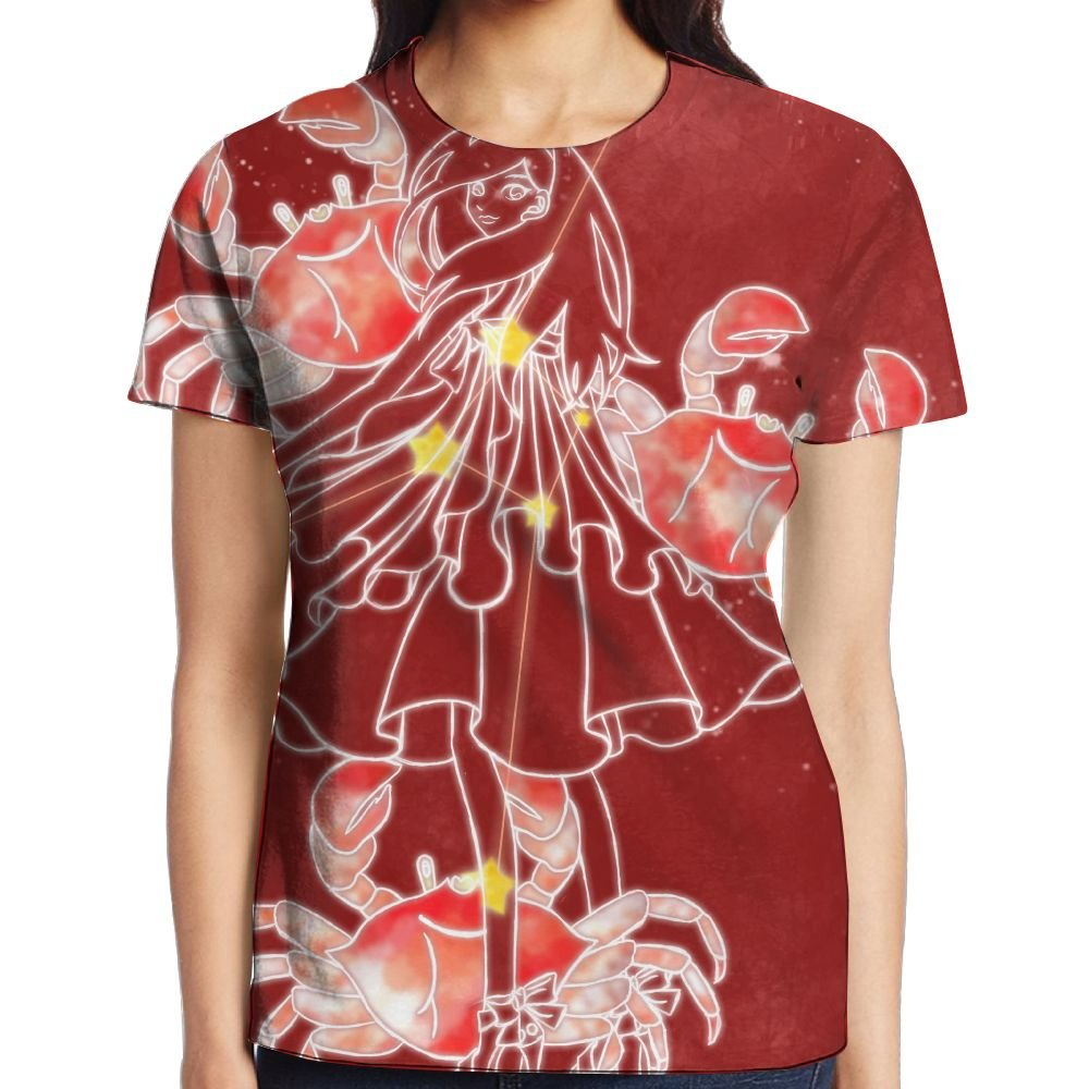 XIA WUEY considerate Cancer Girl's Popular Graphic Tee Compression Shirt by XIA WUEY