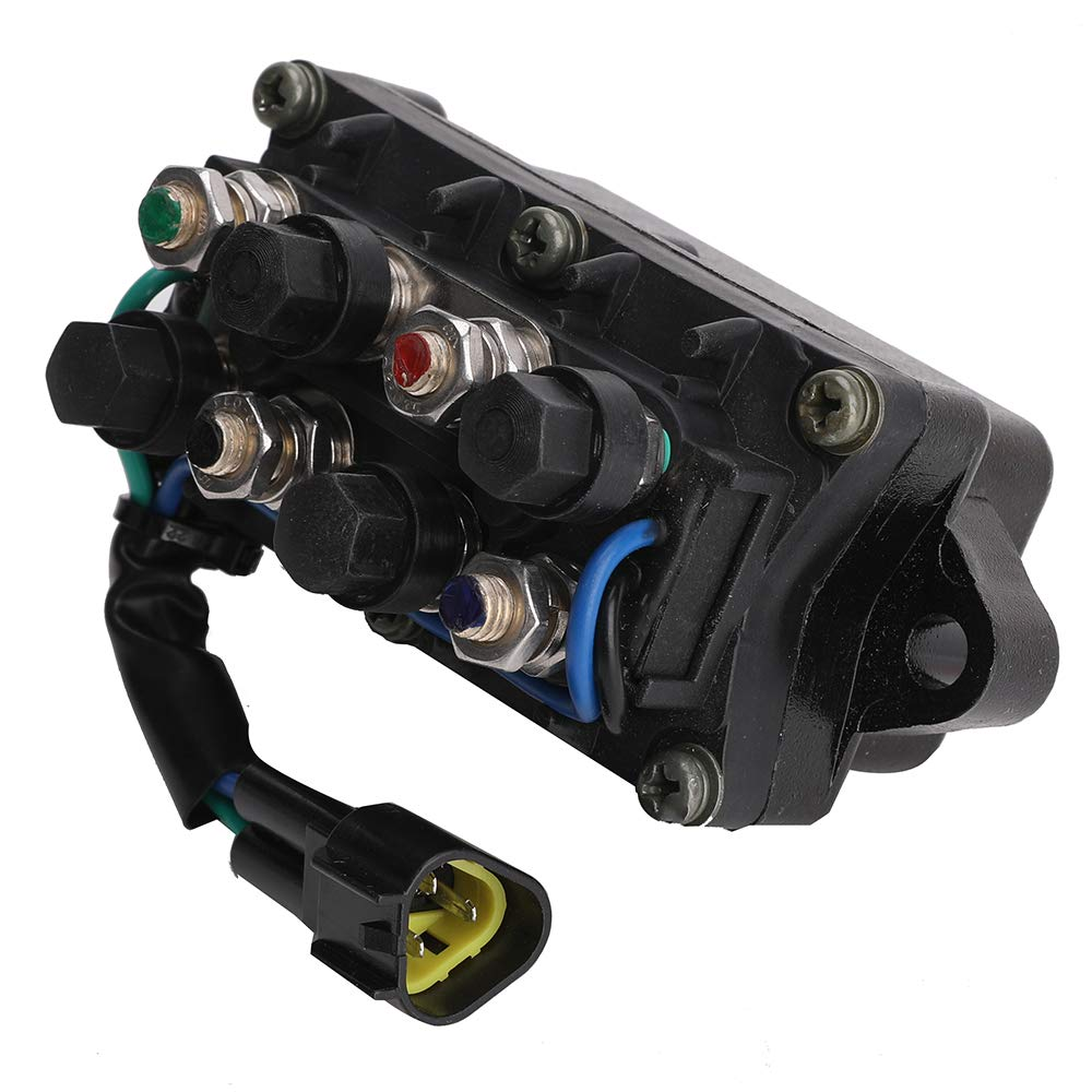 61A-81950-01-00 61A-81950-00-00 Relay Assembly for Yamaha Boat Power Trim and Tilt Relay Assy 3 Pin Assembly DC-12V