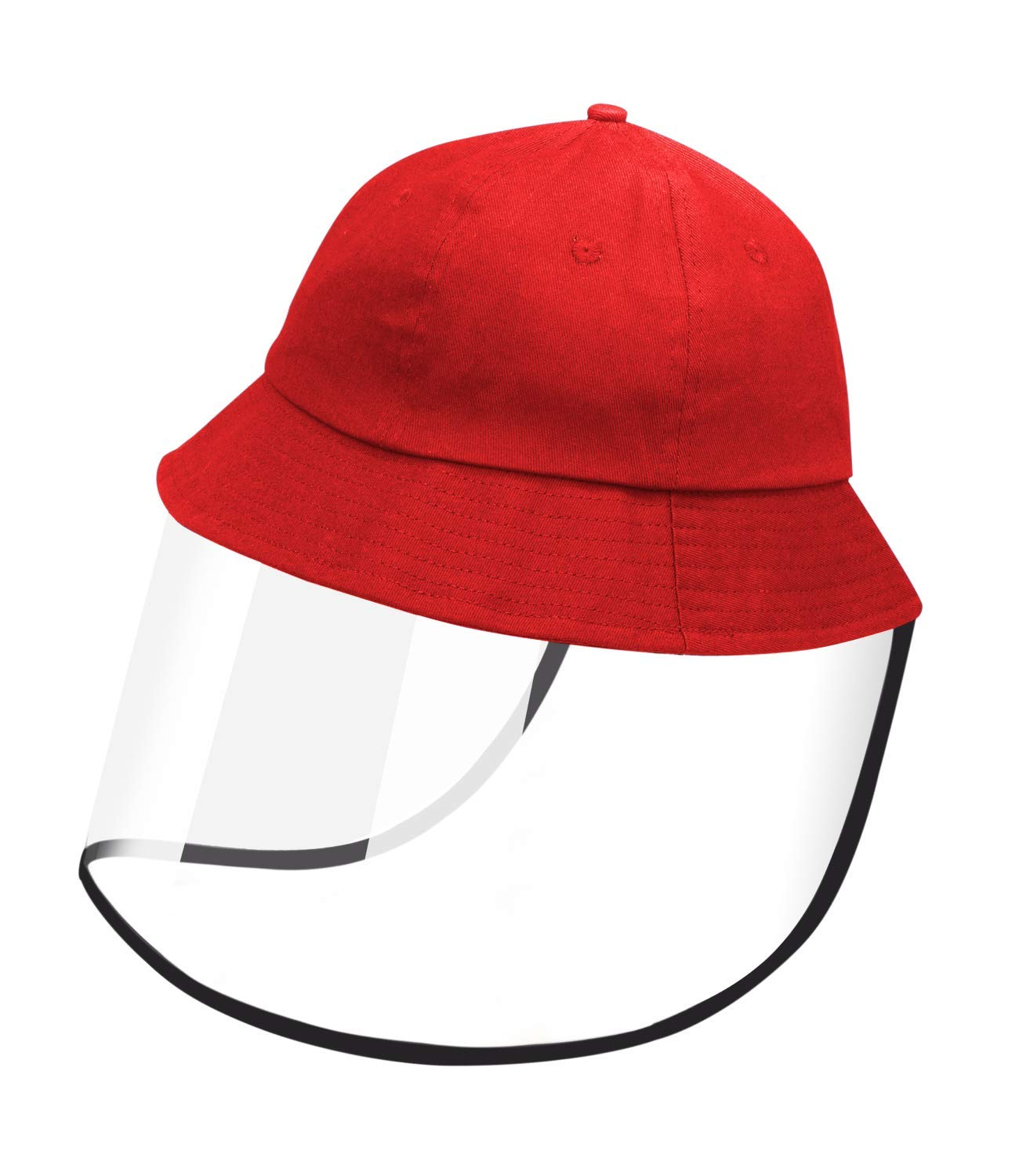 Cotton Packable Sun Hat with Detachable Face Shield 20-22 inch New /& Improved Design with Longer Protective Shield Red /& Blue Suitable for Kids