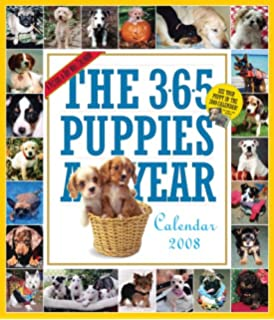 The 365 Puppies-A-Year Calendar 2008 (Picture-A-Day Wall