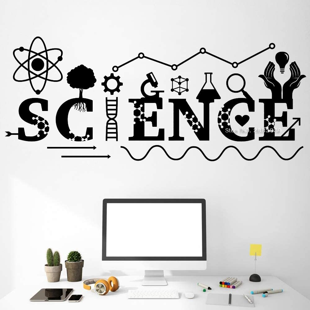 Wall Art Decor Decals Removable Mural Fancy Science Quotes Wall Decal Art Wall Decor Chemistry Instrument Classroom Decals Teen Boy Bedroom Decor Stickers Hot