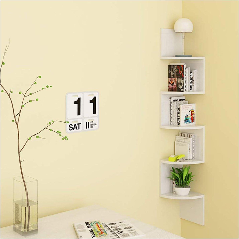 RICOO WM051-PL Scaffale parete 100x53x20cm Mensola da muro universale Libreria sospesa Biblioteca Mobile arredo casa 4 ripiani Legno grigio