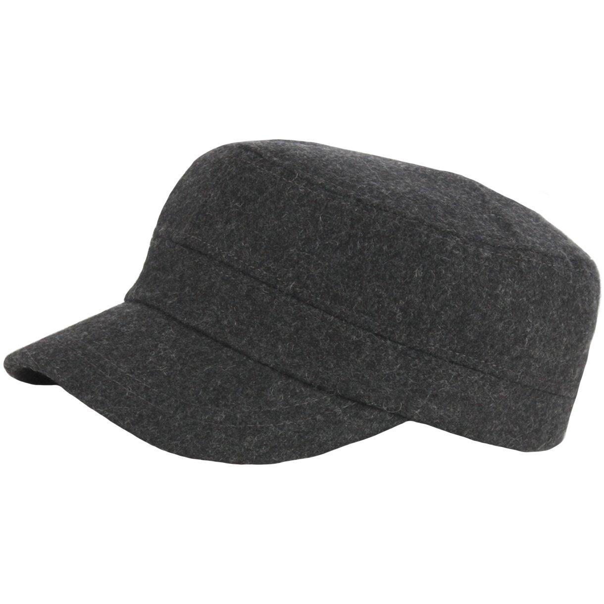 d3ac489a859 RaOn A154 New Fashion Wool Winter Warm Simple Design Club Army Cap Cadet  Military Hat
