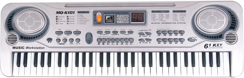 Muslady Teclado Electrónico Piano 61 Teclas LED Música ...