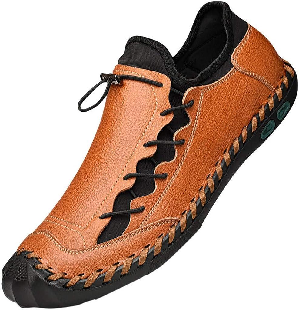Mocasines Casuales para Hombres con Decoración Cosida A Mano Zapatos De Vestir Casuales Hombre Zapatos De Conducción Slip-on Zapatos del Barco (Marrón, EU:39 25cm/9.8