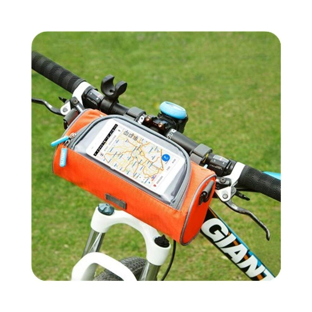Color : Green, Size : 8 inches Lucy Day Bicycle Handlebar Bag Multi-Function Riding Bag Mountain Bike Front Bag First Bag Waterproof