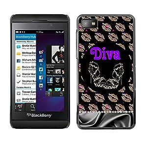 For Blackberry Z10 Case , Girl Eve God Eden Drawing White - Diseño Patrón Teléfono Caso Cubierta Case Bumper Duro Protección Case Cover Funda