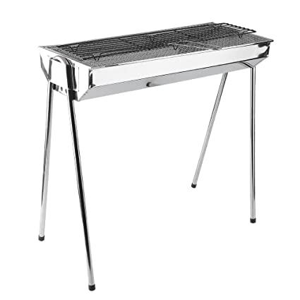 6a6714c946b Image Unavailable. Image not available for. Color  Best Foldable Stainless  Steel Charcoal BBQ Grill Outdoor Portable BBQ Stove ...