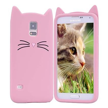 HopMore Gato Funda para Samsung Galaxy S5 Silicona Motivo 3D ...