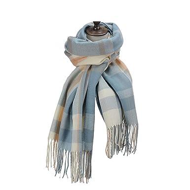 b6e9b8dd10ee09 Damen Winter Warm Fashion Plaid Schal - Cashmere-like Feel Super Soft Wrap  Schal Kopftuch