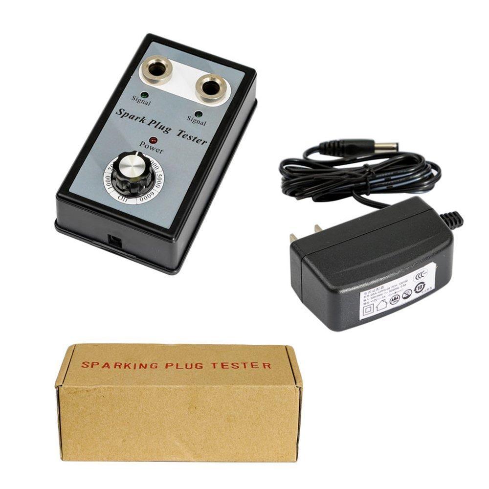 Automotive Spark Plug Tester with Adjustable Double Hole Detector Car Ignition Analyzer
