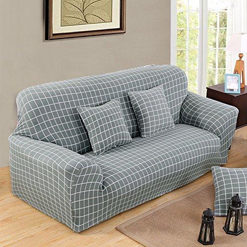 RUGAI-UE Sofa Slipcover Sofa set sofa cover double three sofa cushion modern simple stretch sofa towel,Urban style,Single person (90-140) CM