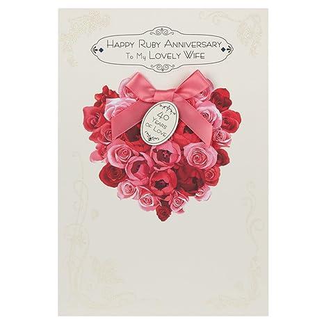 Hallmark Biglietto D Auguri Per 40 Anniversario Di Matrimonio
