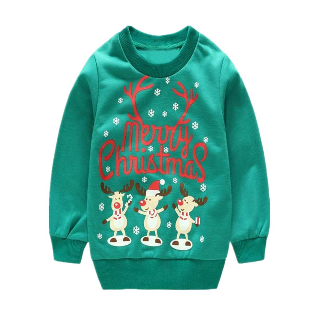 VEKDONE Toddler Baby Girls Boys Clothes Elephant Long Sleeve Blouse Tops Sweater Shirt