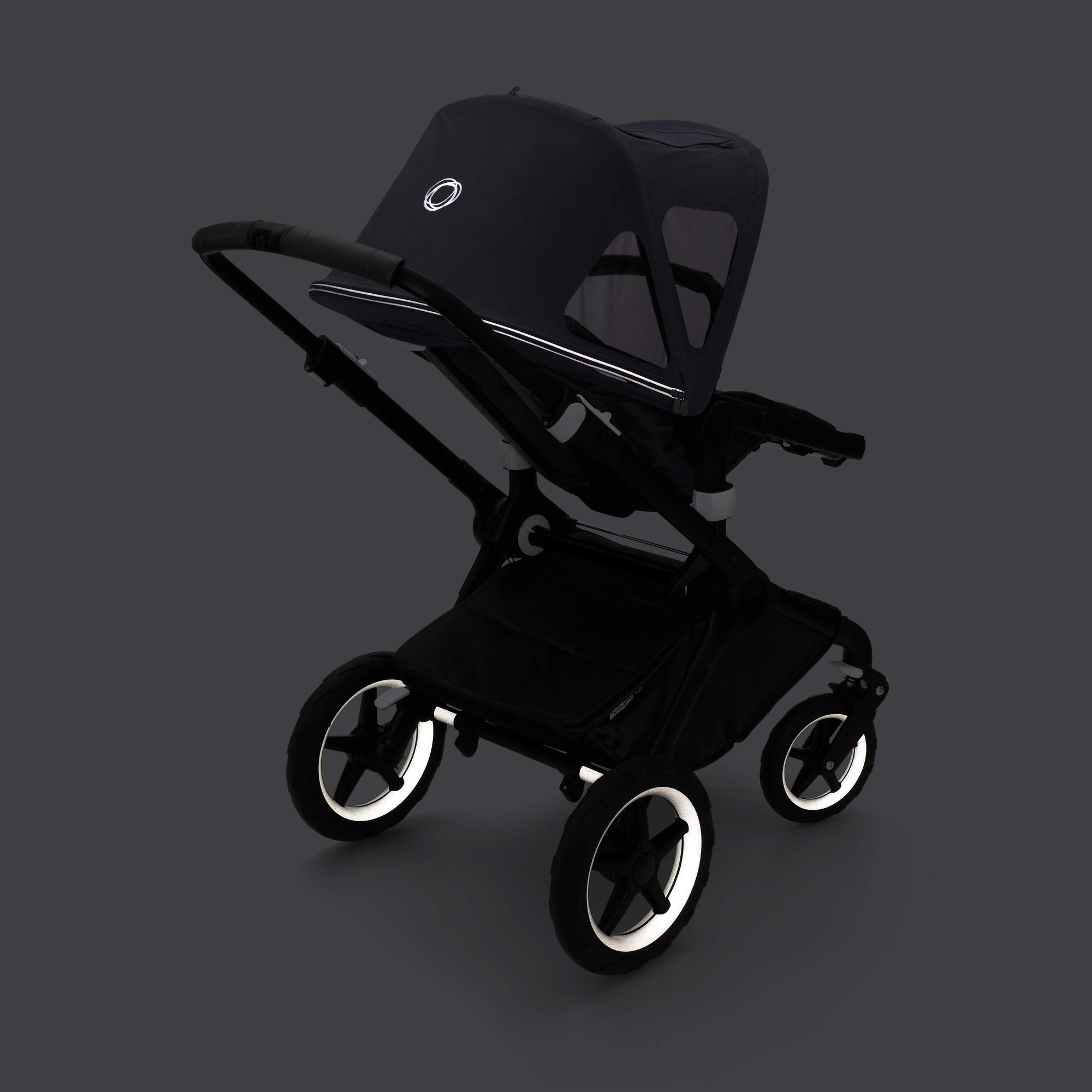 Bugaboo Fox/Cameleon3 Breezy Sun Canopy- Extendable Sun Canopy with Mesh Ventilation Panels, Made with Reflective Materials for Nighttime Strolling