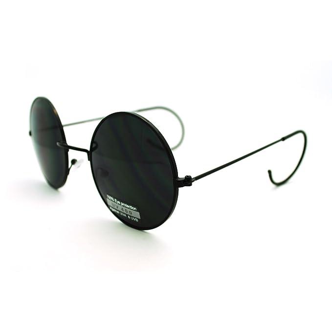 Amazon.com: clásico anteojos de sol Unique Curved Ear Templo ...