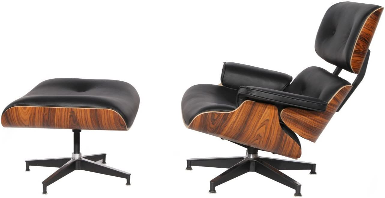 Eames Lounge Stoel Replica.Amazon Com Mid Century Plywood Lounge Chair Ottoman Eames Style