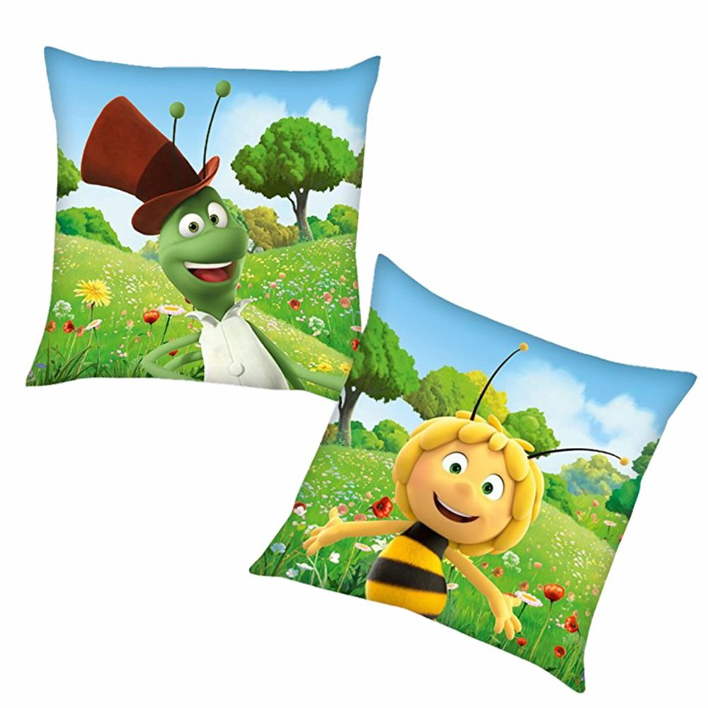 Herding Flip | Kinder Kissen 40 x 40 cm | Biene Maja | Kuschelkissen | Dekokissen