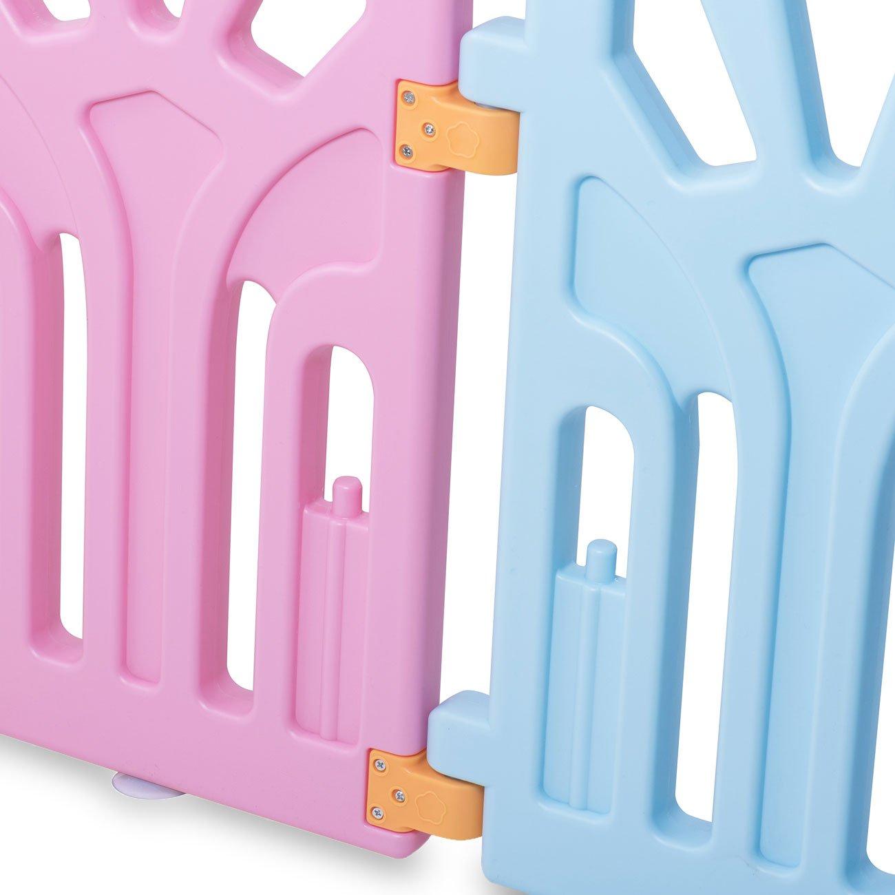 Baby Vivo Laufgitter Laufstall Zusatzpaket Baby Absperrgitter Krabbelgitter Schutzgitter Laufgitter aus Kunststoff mit T/ür