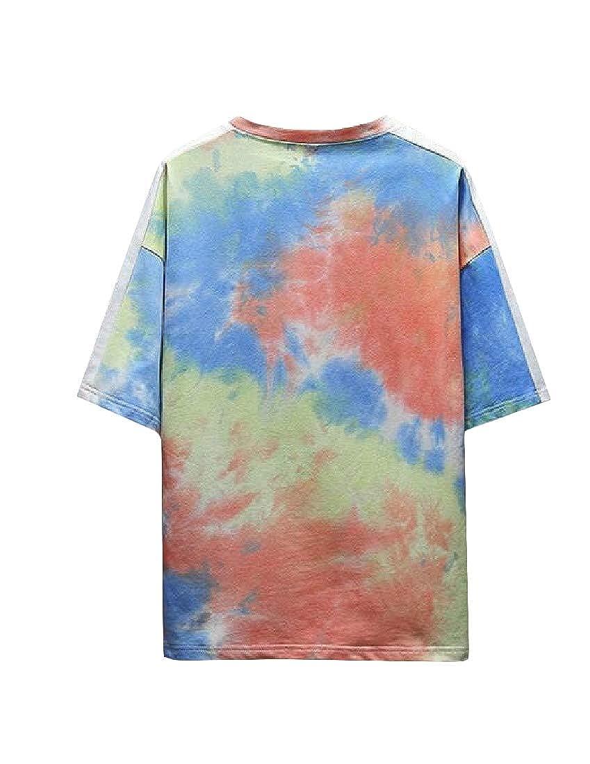 Pandapang Mens Fashion Printed Tee Cotton Short Sleeve Top T-Shirt