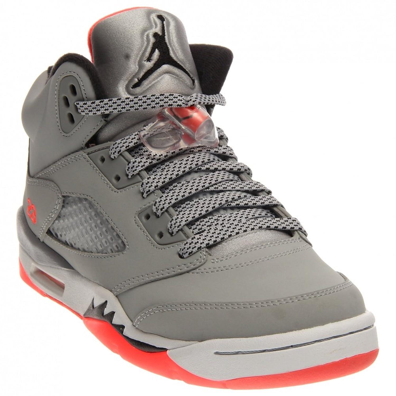 official photos 69619 0b8df Nike Mädchen Air Jordan 5 Retro GG Laufschuhe, Grau Schwarz Rot Weiß (Wolf  Grau Schwarz-Weiß-Hot Lava), 40 1 2 EU  Amazon.de  Schuhe   Handtaschen