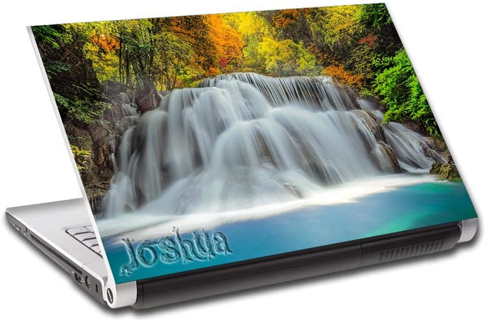 """Exotic Forest Waterfall Nature Personalized LAPTOP Skin Cover Decal Sticker L800, 15.6"""""""