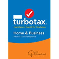 Turbotax Home and Business Tax Software 2018 Personal and Self Employed, 5 Fed Electonic file + State Print [D0WNL0AD 0NLY]