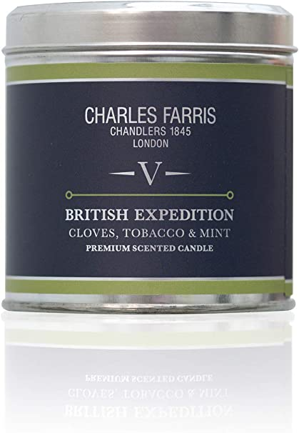 """Charles Farris /""""British Expedition Home Scents Candle Tin Multi-Colour"""